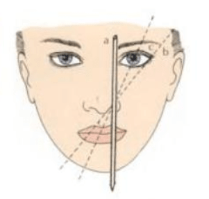 The eyebrow shape be determined according to the facial proportions