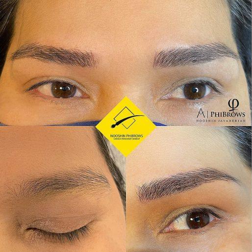 Asian style Microblading eyebrow