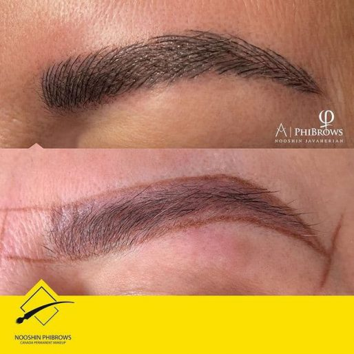 Microblading over old tattoo