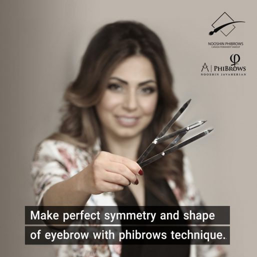 Make Perfect Symmetry and Shape of Eyebrow with PhiBrows Technique