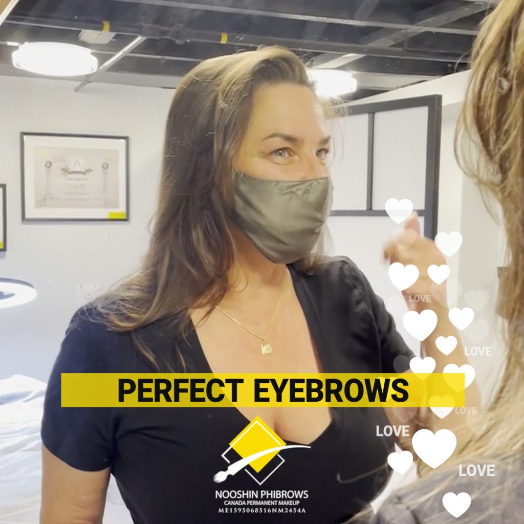 Full natural eyebrow with Microblading