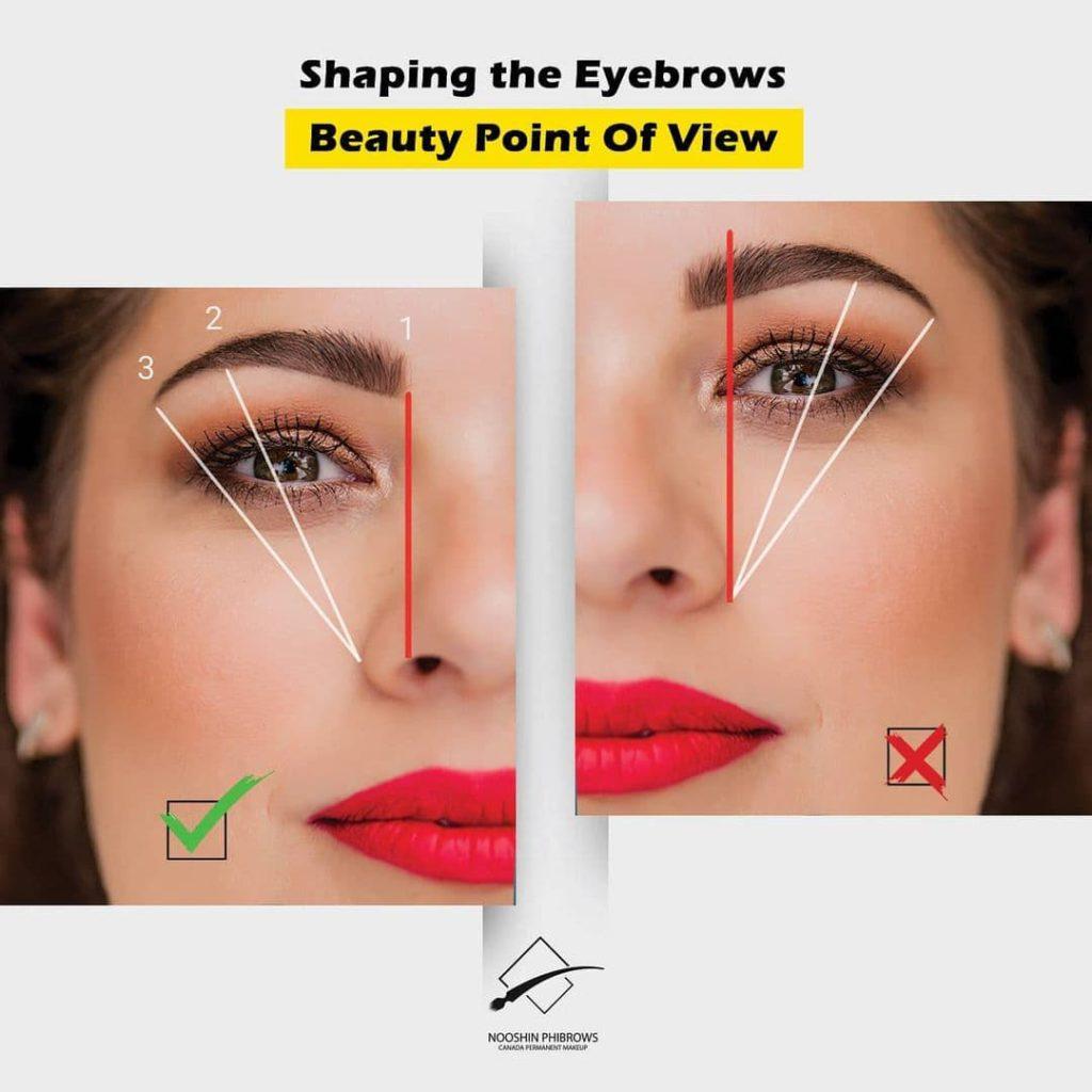 Shaping the eyebrows – Microblading – Canada Makeup – eyebrows – photo 2021 10 09 11 41 17 – Canada Makeup – NOOSHIN JAVAHERIAN